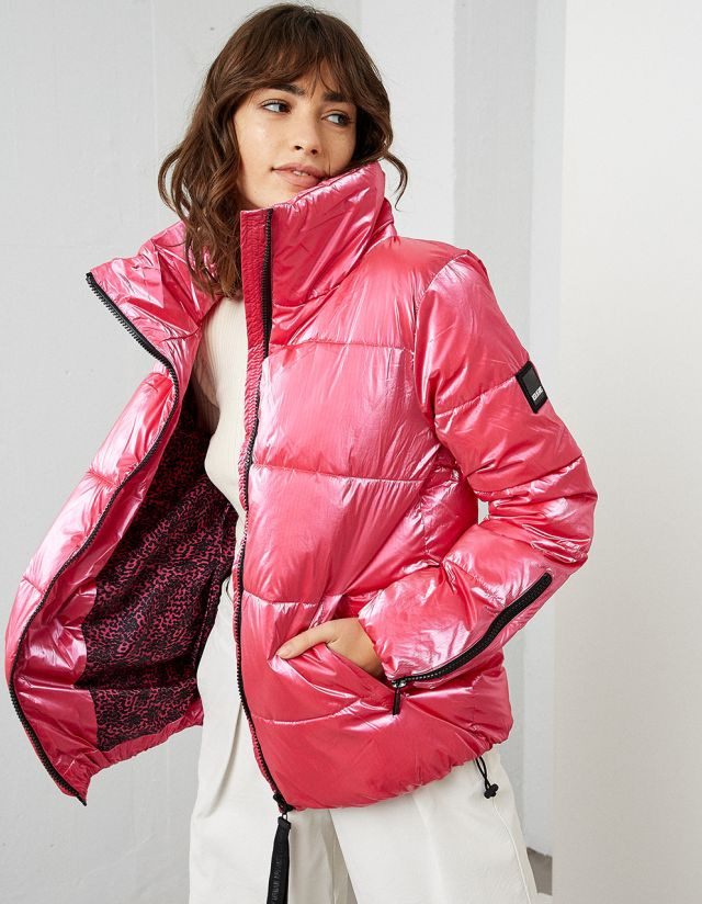METALLIC PUFFER JACKET