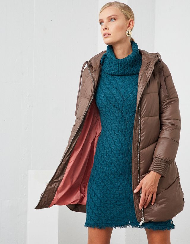 PUFFER JACKET WITH BELT