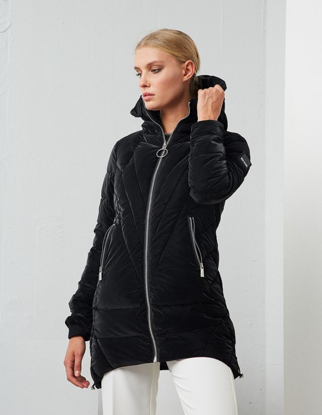 PUFFER JACKET WITH HOOD