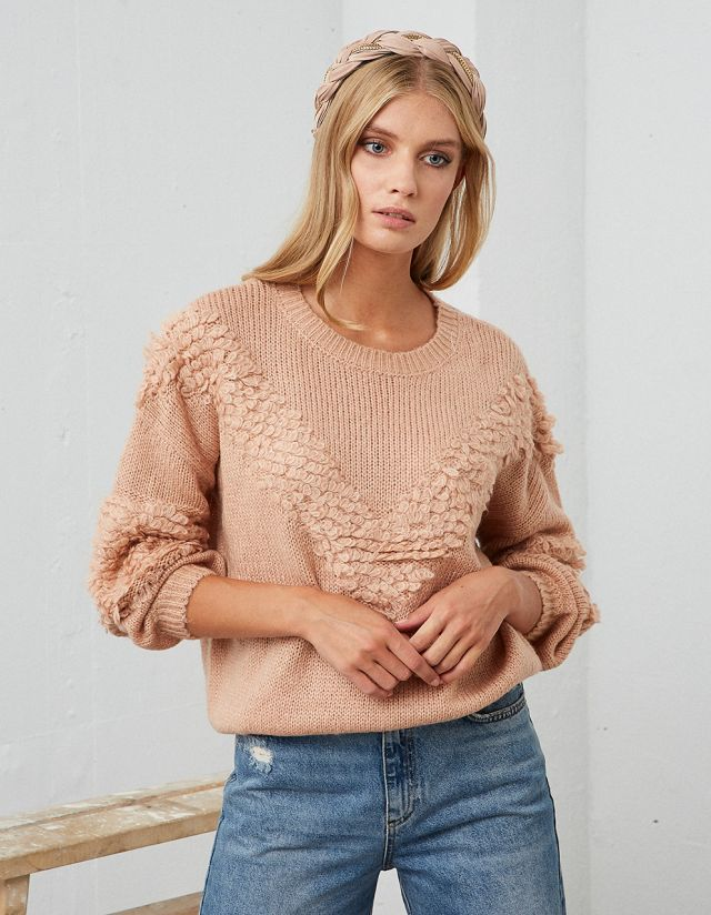 SWEATER WITH BALLOON SLEEVES