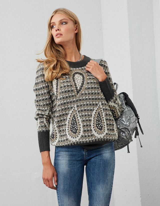 KNIT JACQUARD SWEATER