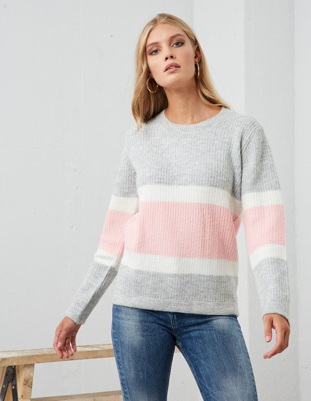 KNIT SWEATER WITH STRIPE