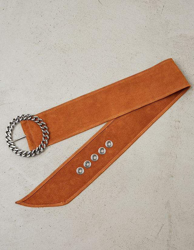 LEATHER SUEDE BELT