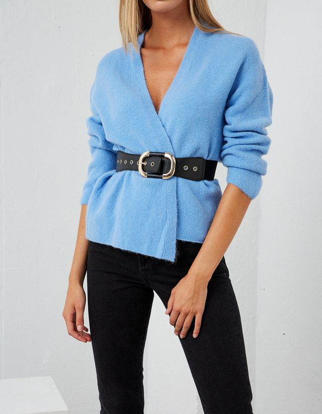 ELASTICATED BELT WITH BUCKLE