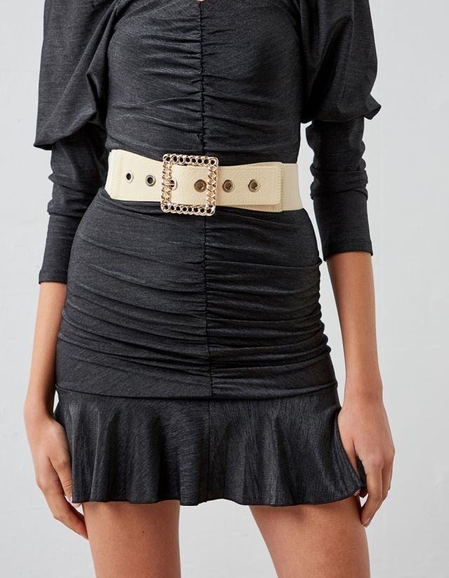 BELT WITH CHAIN-SHAPED BUCKLE