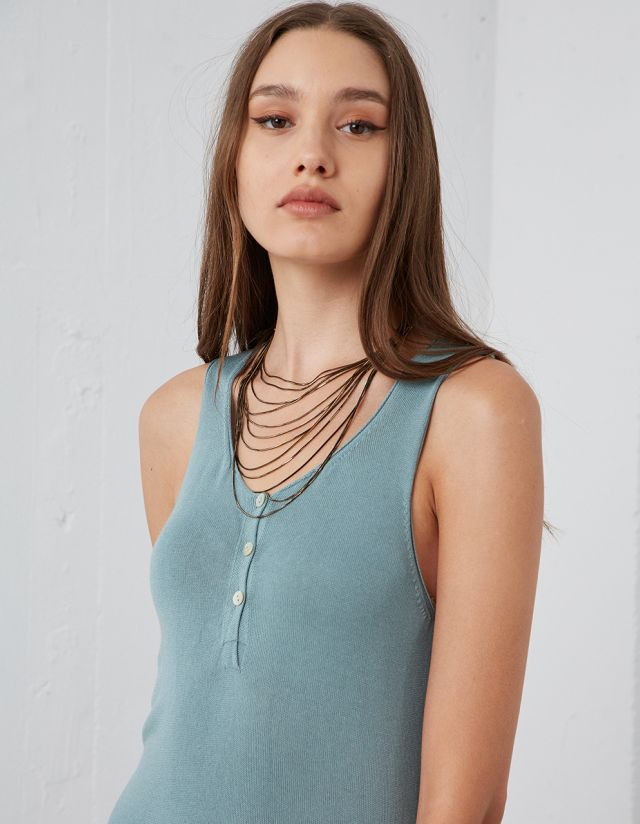 MULTIPLE CHAIN ROW NECKLACE
