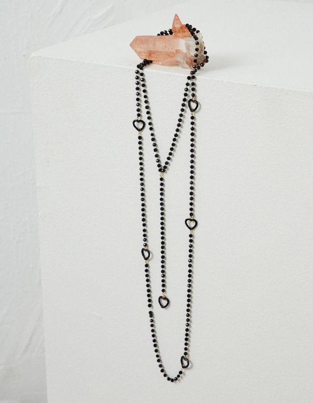 BEADED LONGLINE NECKLACE