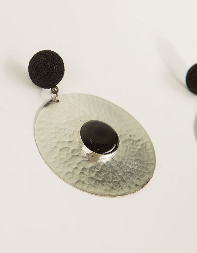 METALLIC DISC EARRINGS
