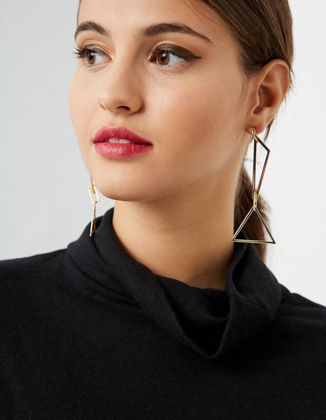 METALLIC GEOMETRIC EARRINGS