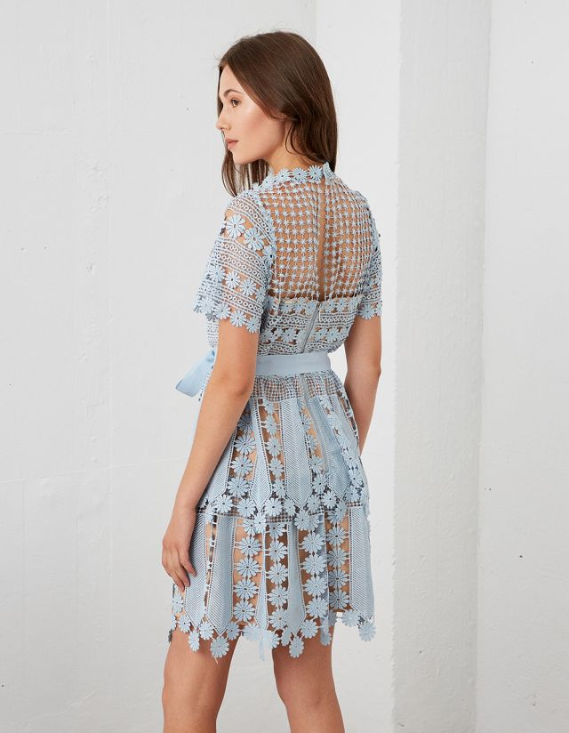 MINI CROCHET LACE DRESS