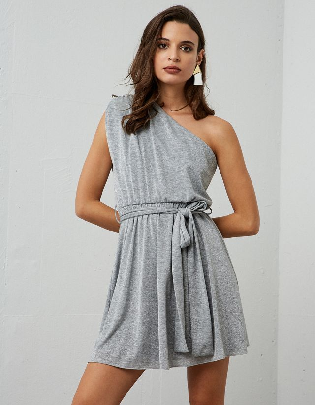 LUREX ASYMMETRIC DRESS