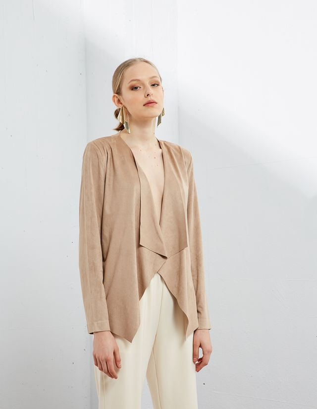 CARDIGAN WITH SUEDE TOUCH