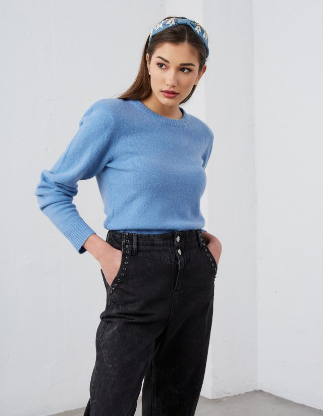 SWEATER WITH SHOULDER PADS