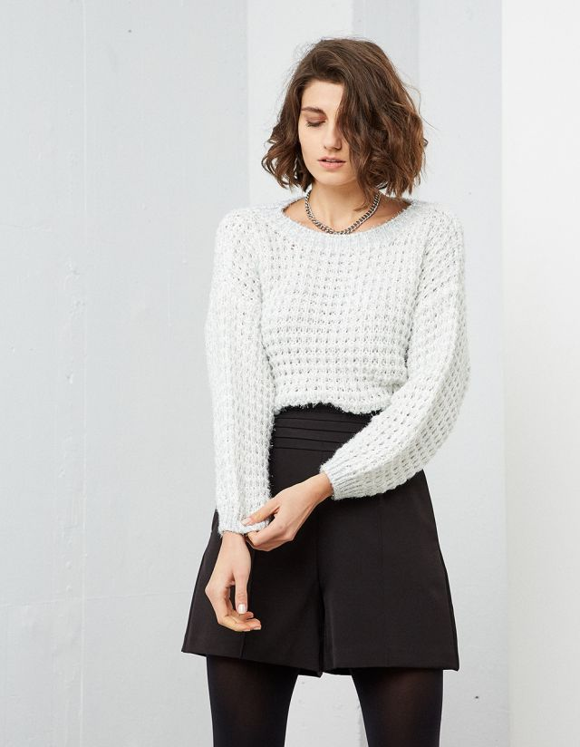 KNIT SWEATER WITH LUREX THREAD