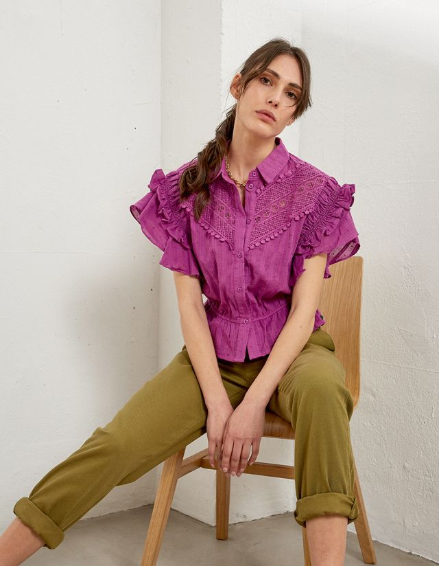 COTTON TOP WITH EMBROIDERY