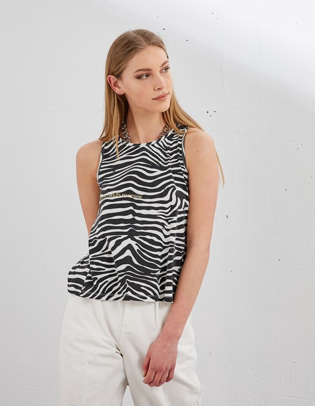 T-SHIRT WITH ZEBRA PRINT