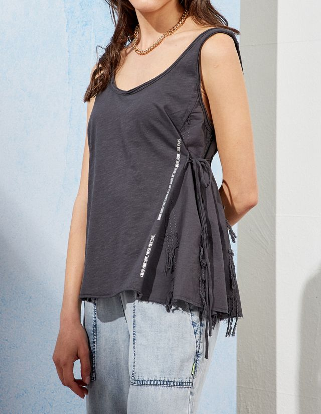 BLOUSE WITH FRINGES