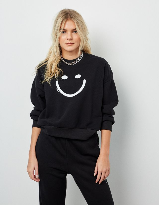 SWEATSHIRT WITH FACE PRINT
