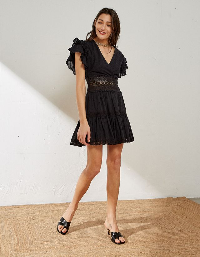 MINI DRESS WITH EMBROIDERY
