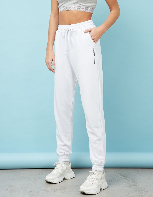 SWEATPANTS WITH ELASTICATED WAISTBAND