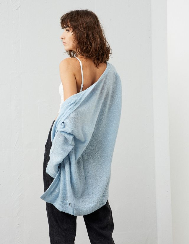 KNIT LUREX CARDIGAN