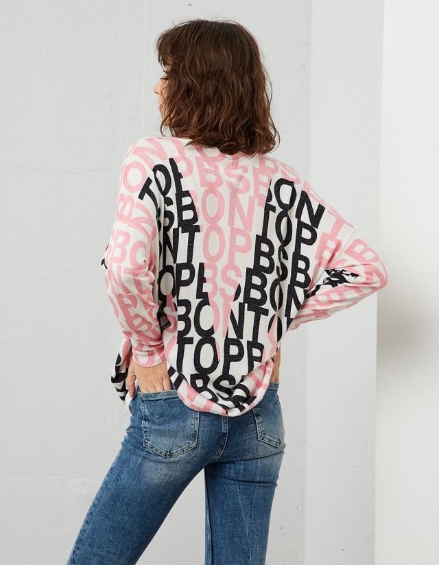 ALL-OVER PRINT SWEATER