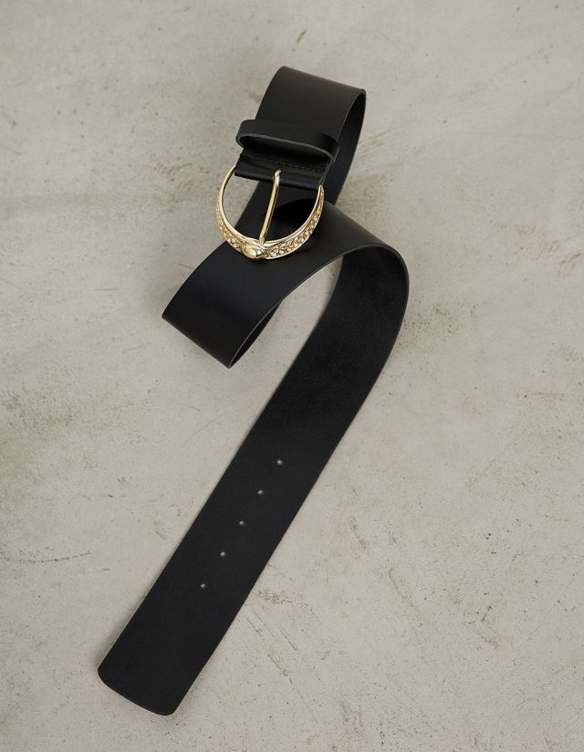 LEATHER WIBE BELT