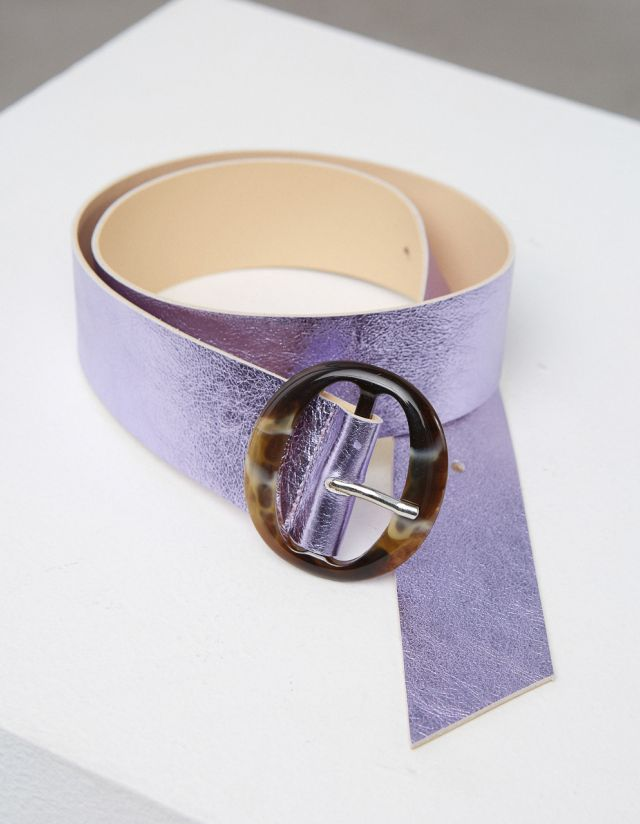 LEATHER BELT WITH BUCKLE