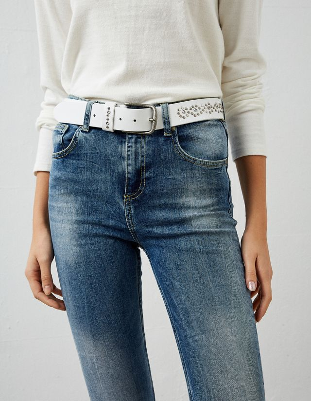 BELT WITH METALLIC STUDS