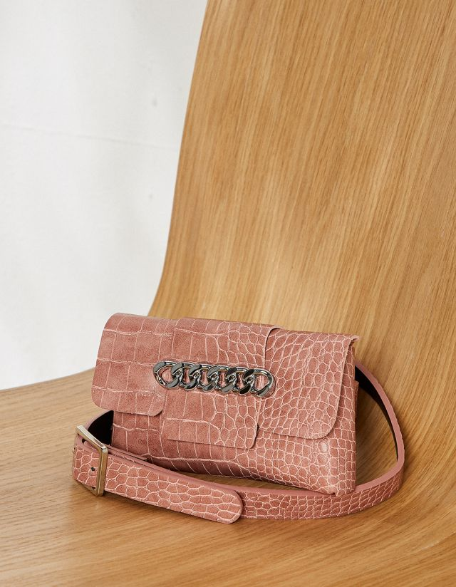 CROCO-EFFECT BELT BAG