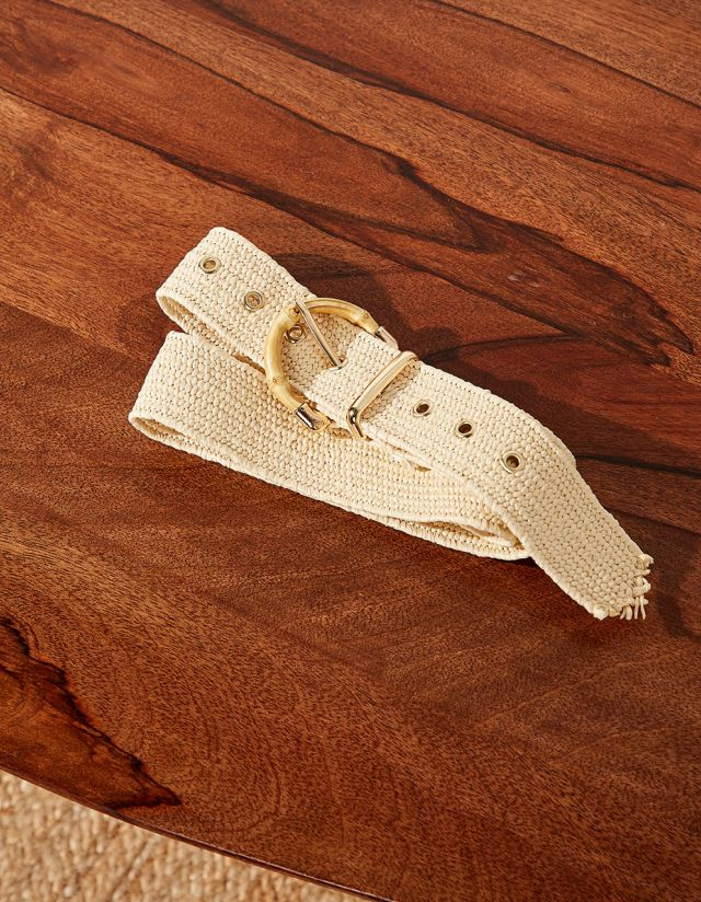 BELT WITH WOODEN BUCKLE