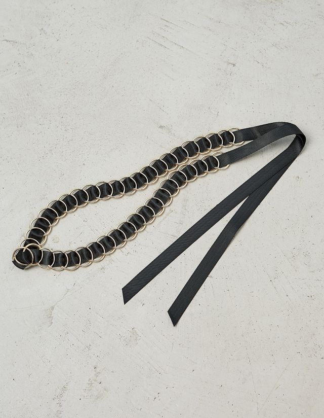 BELT WITH HOOPS