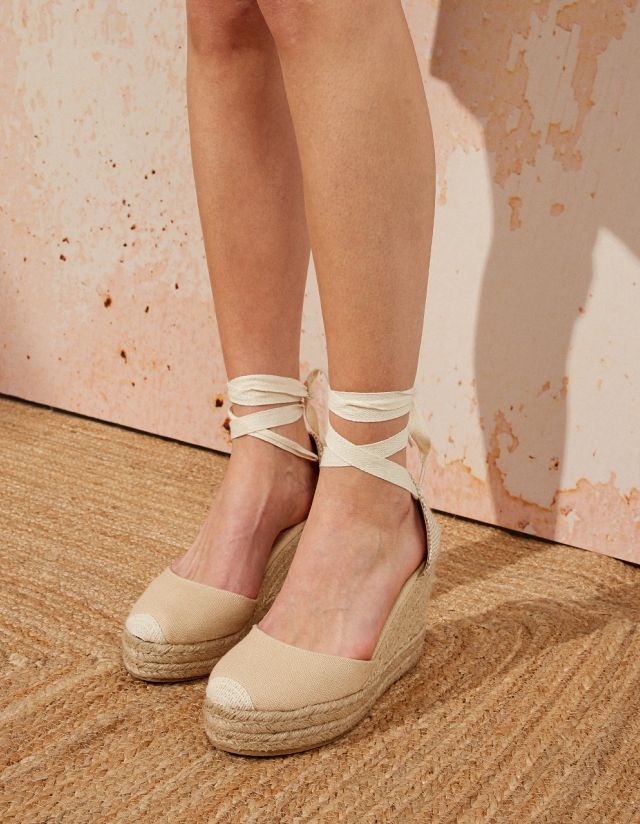 JUTE TIED WEDGES