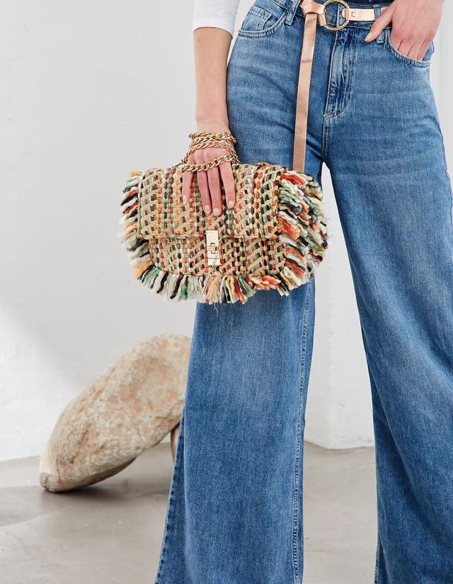BOUCLE BAG WITH FRINGES