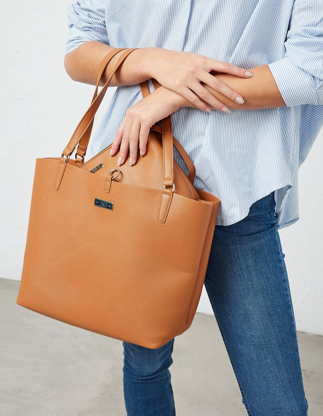 SHOPPER LEATHER EFFECT BAG