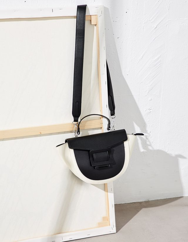 TWO-TONE CROSSBODY BAG