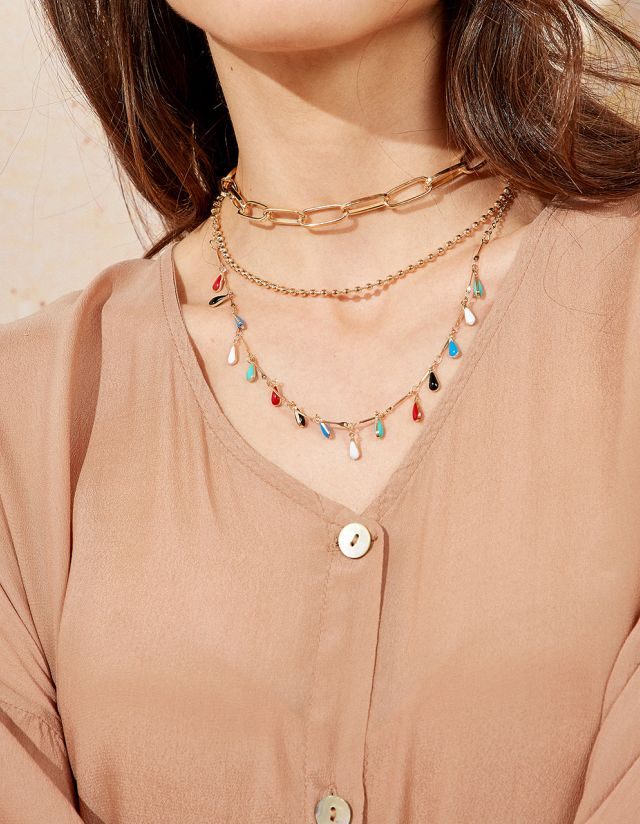 MULTIROW NECKLACE