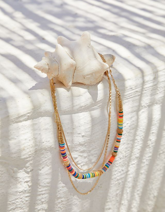TRIPLE BEADED NECKLACE