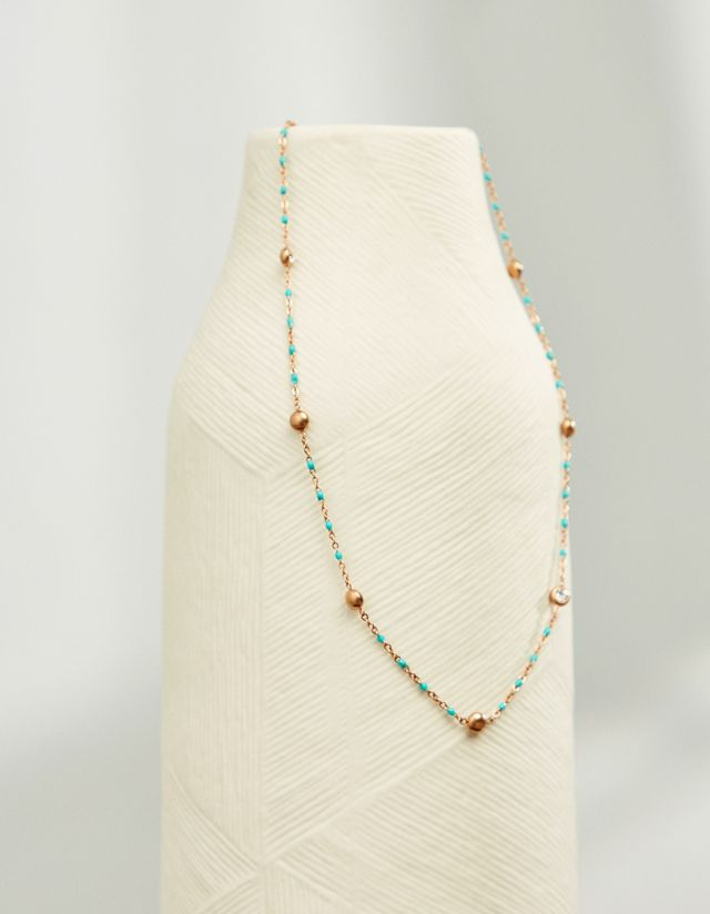 SHORT ROSARY NECKLACE