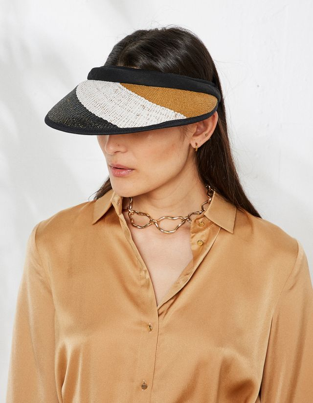 THREE TONE VISOR HAT