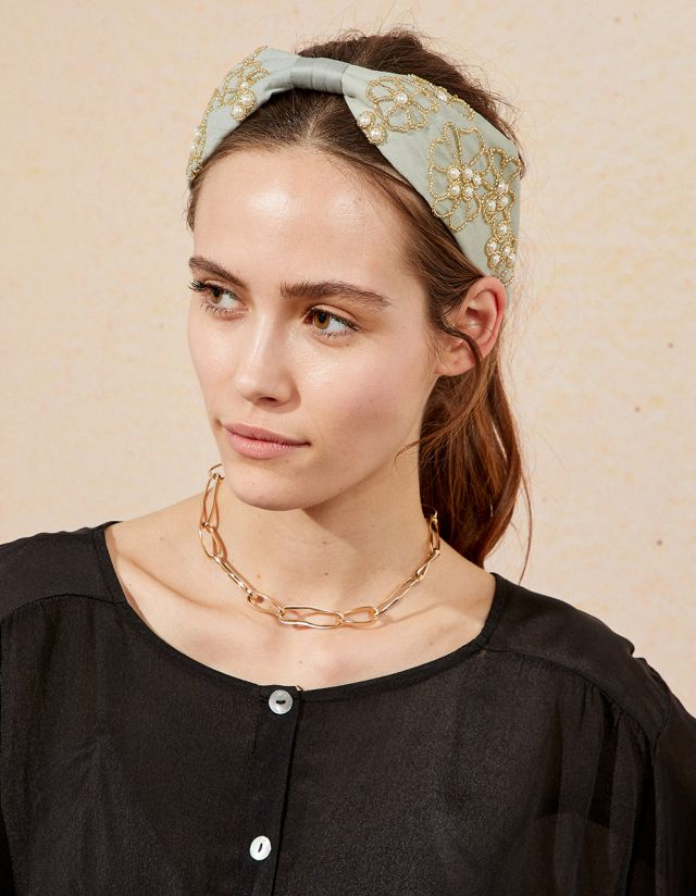 JEAN HEADBAND WITH PEARLS