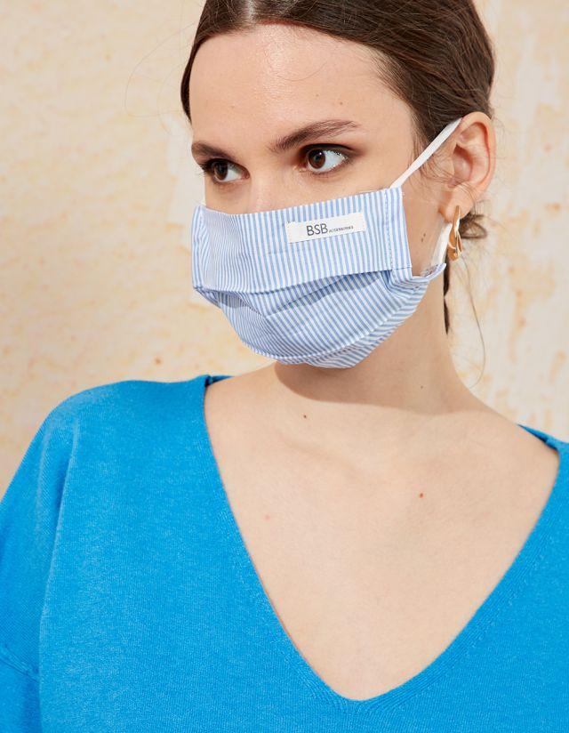 SQUARE STRIPE PROTECTIVE MASK