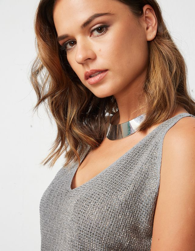 KNIT TOP WITH RHINESTONES