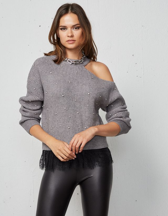 SWEATER WITH CUT-OUT DETAIL