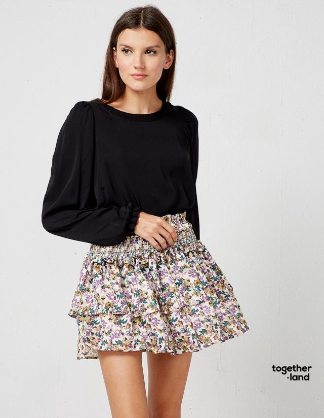BLOUSE WITH RUFFLES ON THE CUFFS - TOGETHERLAND