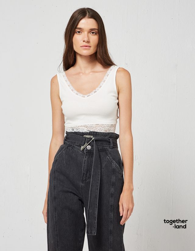 LACE RIB BUSTIER - TOGETHERLAND