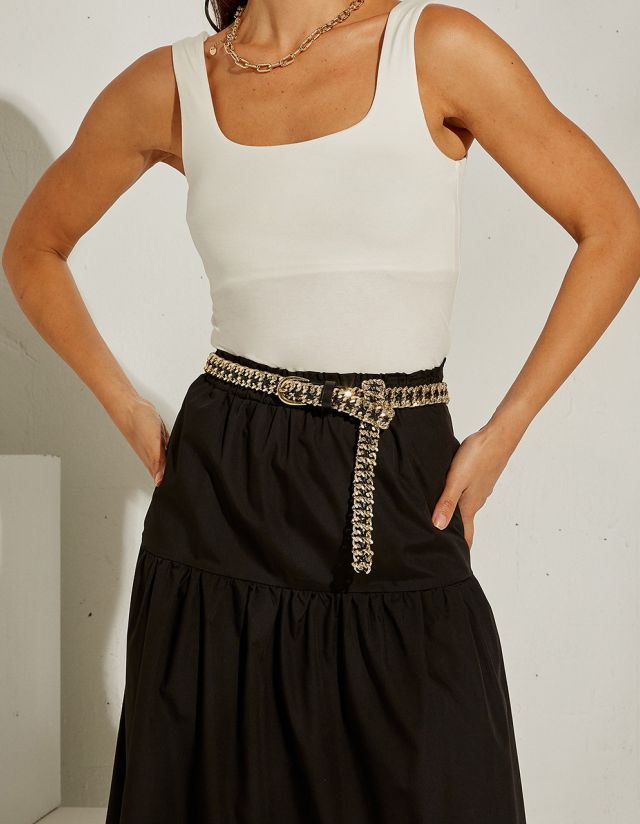 BELT WITH CHAINS
