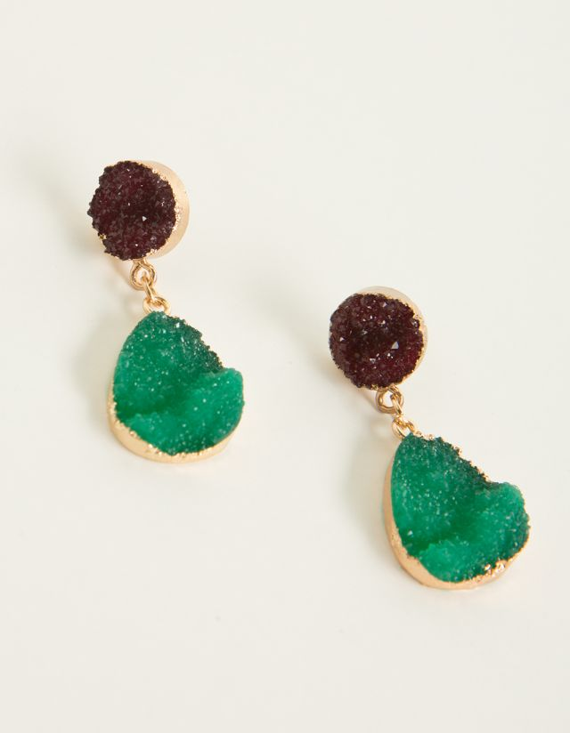 HANGING EARRINGS WITH CRYSTALS