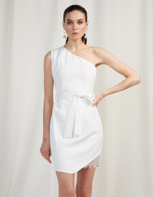 ONE-SHOULDER MINI DRESS