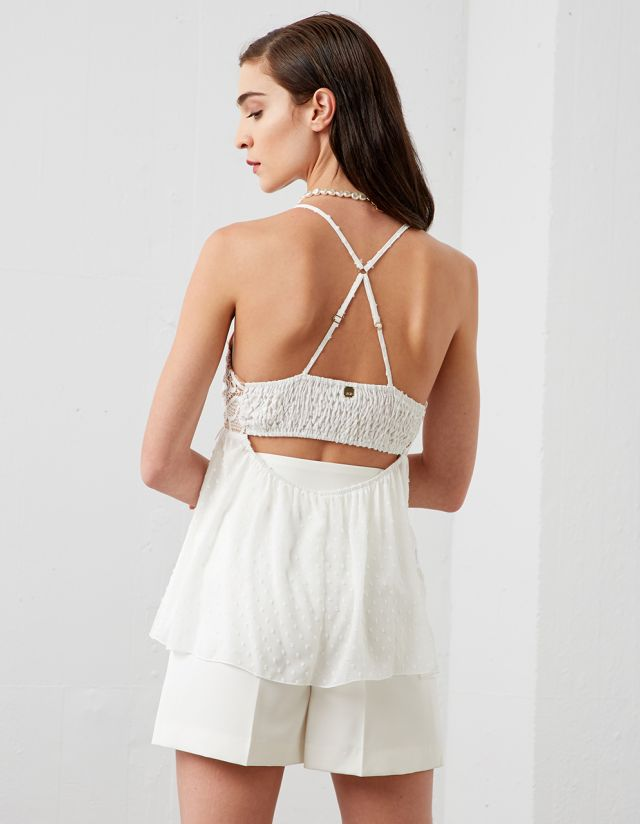 TOP WITH CROCHET LACE